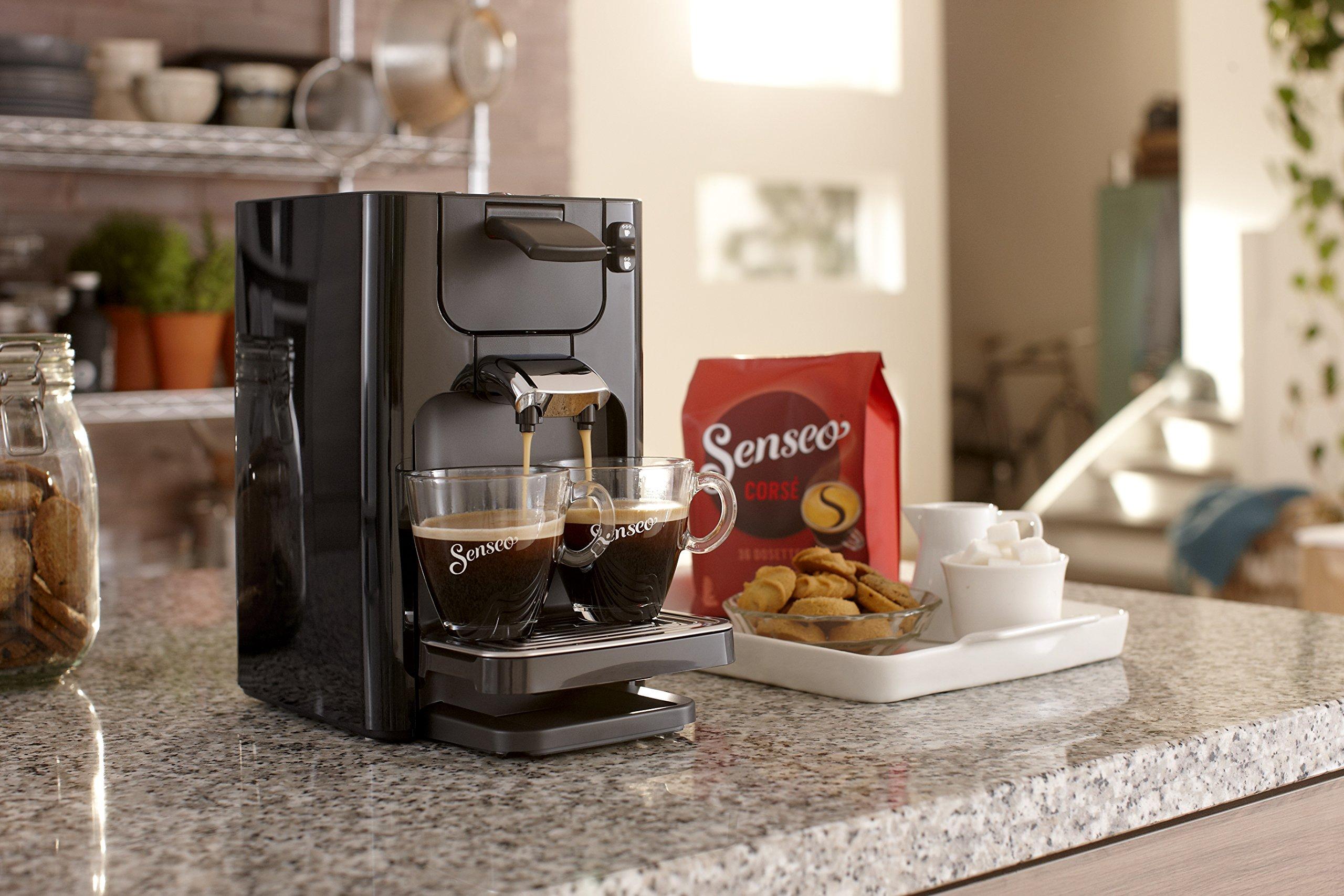 Senseo Quadrante HD7866/61 - Cafetera (Independiente, Máquina de café en cápsulas, 1,2 L, Dosis de café, 1450 W, Negro): Amazon.es: Hogar