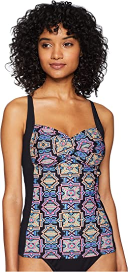 Sun Temple Twist Halter Singlet Tankini Top
