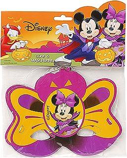 Ciao 29014.6–Lot de 6Masques Halloween Disney Mickey et Minnie, Orange