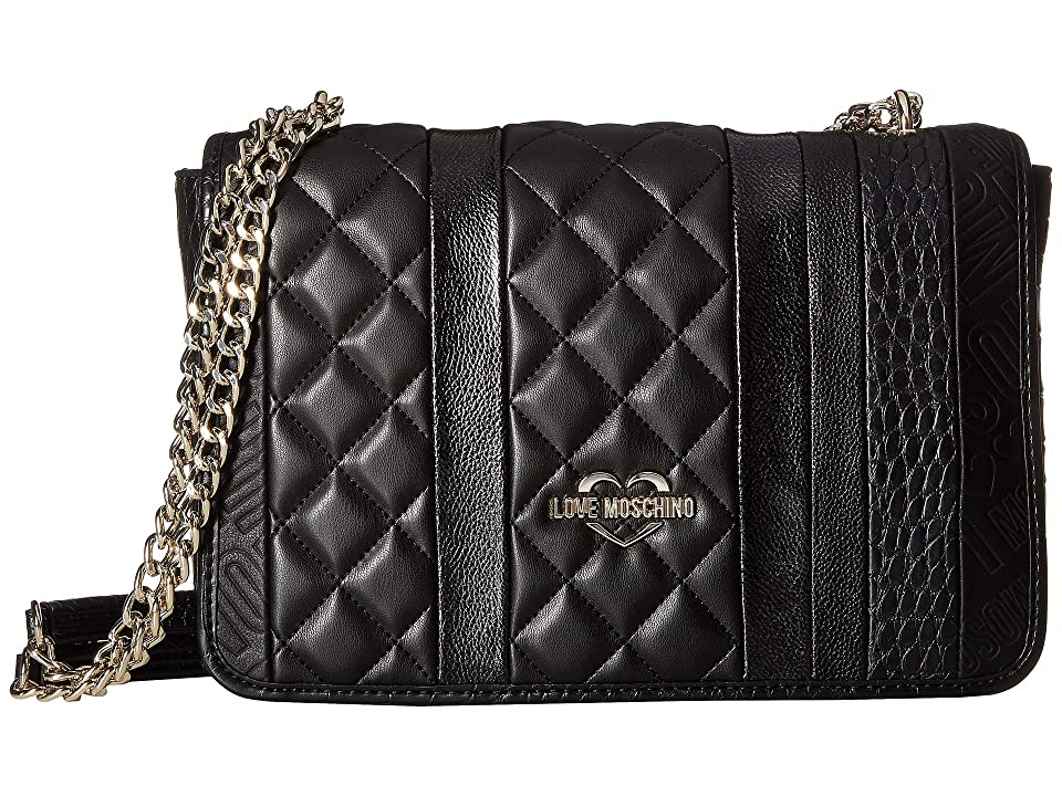 LOVE Moschino - LOVE Moschino Fashion Stripes Quilted Shoulder Bag