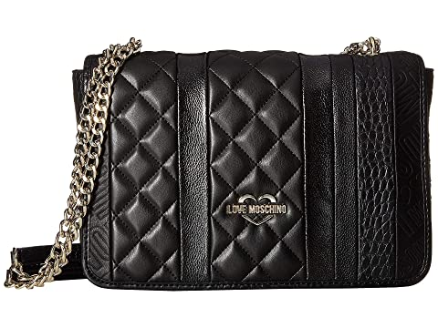 LOVE Moschino Fashion Stripes Quilted Shoulder Bag