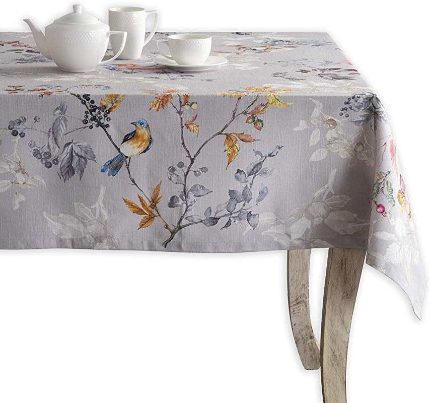 Maison D Hermine Equinoxe 100 Cotton Grey Tablecloth 60 Inch By 108 Inch
