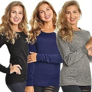 Women's Fleece Lined Long Sleeve Thermal Top