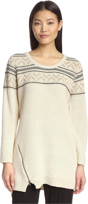 Heartloom Women's Diagonal Zip Sweater