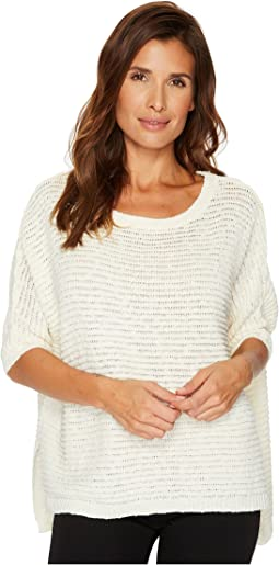 3/4 Sleeve Crinkle Yarn Dolman Sweater