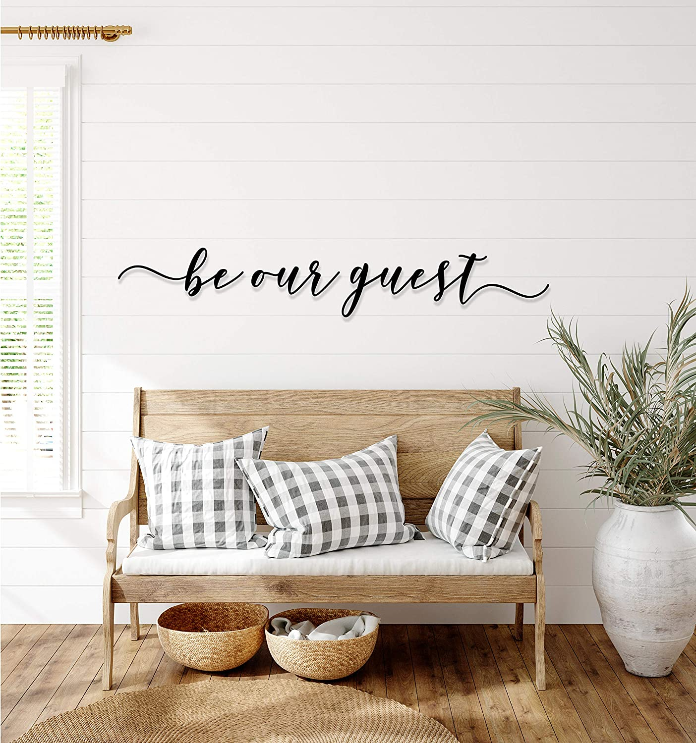 Tamengi Be Our Guest Metal Sign Large Decor Bedroom Wall Popular products T trust Over