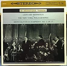 CBS Stereo 360 BERNSTEIN shostakovich symphony no 5 LP Archive Mint- MS 6115