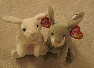 Two Ty Beanie Baby Bunnies/Rabbits - Nibbly and Nibbler by Ty