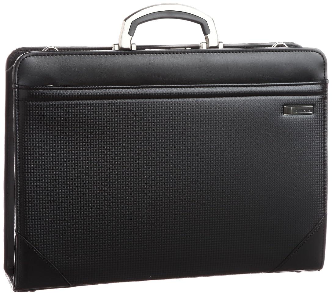 領事館利点オーガニック[バジェックス] BAGGEX 剣 B4書類対応カーボン柄合皮製ビジネスダレスバッグ 自立型 日本製