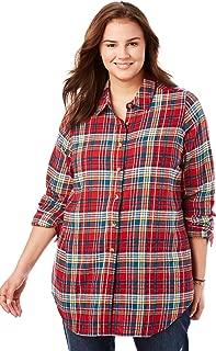 Women's Plus Size Classic Flannel Shirt