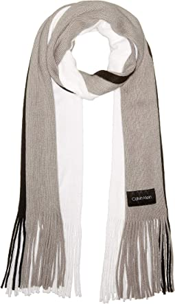 Three-Color Wrap Knit Scarf