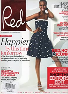 Red UK April 2013 Magazine FIRST INTERACTIVE COVER Happy Birthday Red SPECIAL COLLECTORS ISSUE WITH SUPERMODEL ALEK WEK