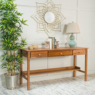 Best teak console table with drawers Reviews