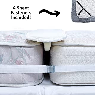 ORCA Twin to King Converter Kit   Bed Bridge King Maker Twin Bed Joiner Mattress Connector with Sheet Fasteners Included