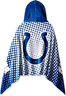 """Officially Licensed NFL Youth Hooded Beach Towel, 22"""" x 51"""", Multi Color"""