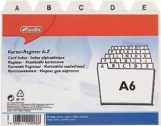 Herlitz 1500669 Intercalaires index alphabétique A6 en plastique pour boîte à fiches (Blanc) (Import Allemagne)