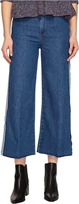 RED VALENTINO - Denim Stone Washed & Hatching Embroidery Pants