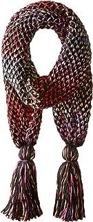 San Diego Hat Company Women's Crochet Knit Oblong Scarf with Tassels
