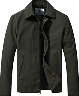 WenVen Men's Work Wear Casual Military Lapel Jacket (Regular & Big-Tall Sizes)