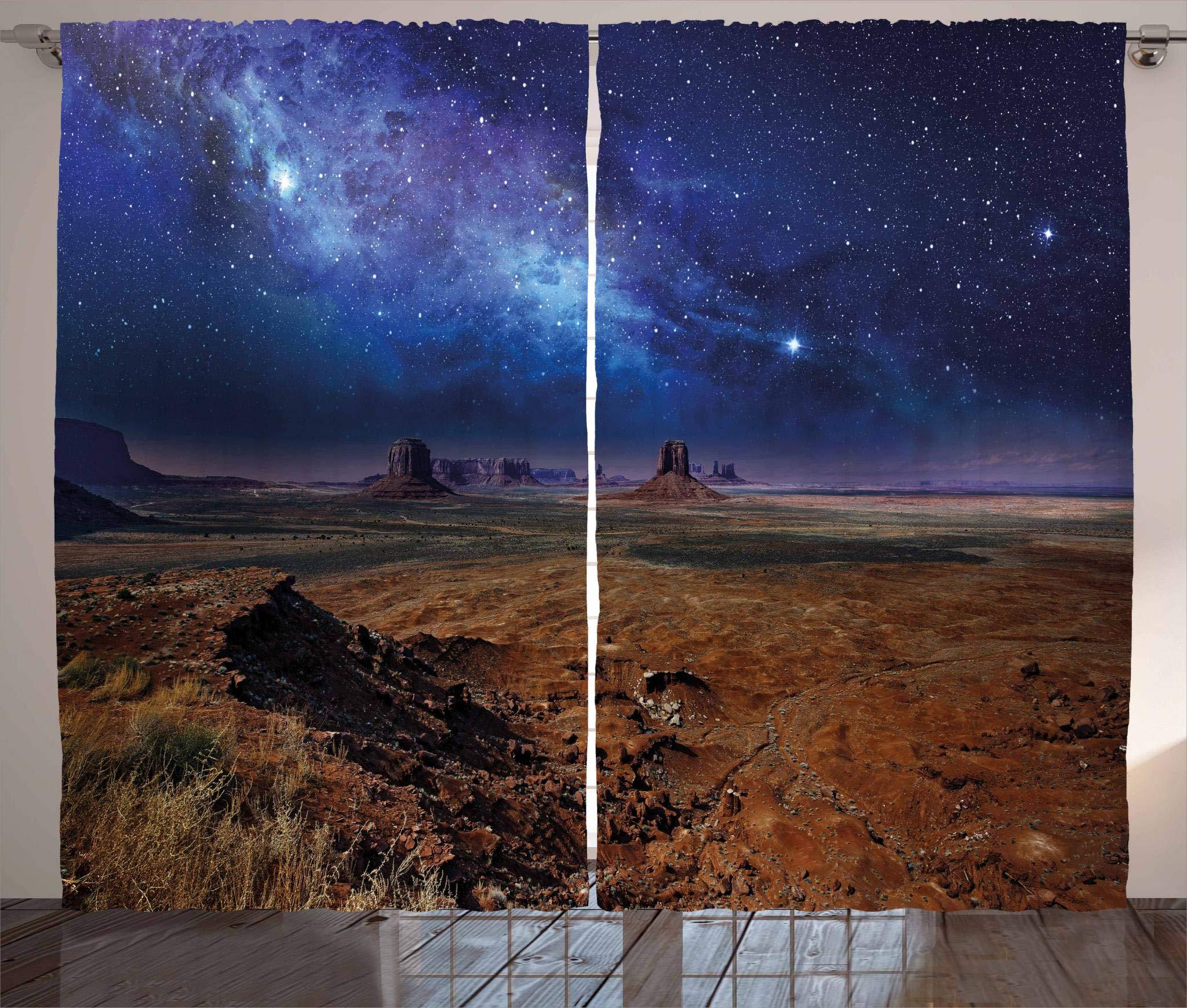 Ambesonne Curtains Monument Arizona Landscape