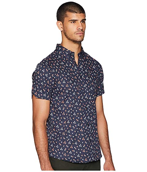 Ben Sleeve Short Shirt Tree Palm Sherman Print qn1v6wqa4