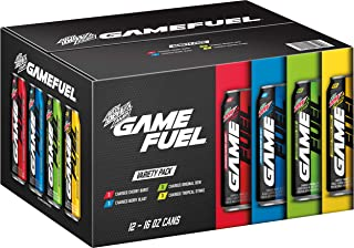 MTN DEW AMP GAME FUEL, 4 Flavor Variety Pack, 16 Ounce, 12 Cans