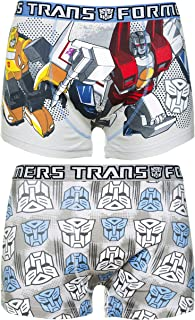 U Wear Ltd Mens 2pk Transformers Boxer Shorts