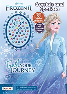 Disney Frozen 2 48-Page Activity Book with 50 Jewel Stickers 45822,Multicolor
