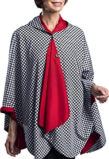 RainCaper Womens Rain Cape Poncho Coat Jacket with Hood Reversible Gorgeous Ultrasoft (Choose your Color)