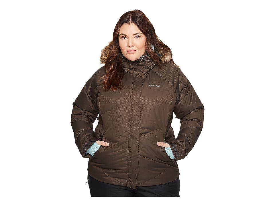 Columbia Plus Size Lay D Downtm Jacket (Buffalo Dobby/Aqua Haze) Women