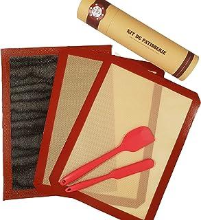 all-in-cuisine Kit de pâtisserie, Tapis Cuisson Silicone 30x40 cm et ustensiles, avec Ces Tapis réutilisable Fini la Feuil...