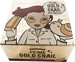 Dewytree Prime Gold Snail Eyes Patches 60 Sheets Facial Skincare Wrinkles Pads