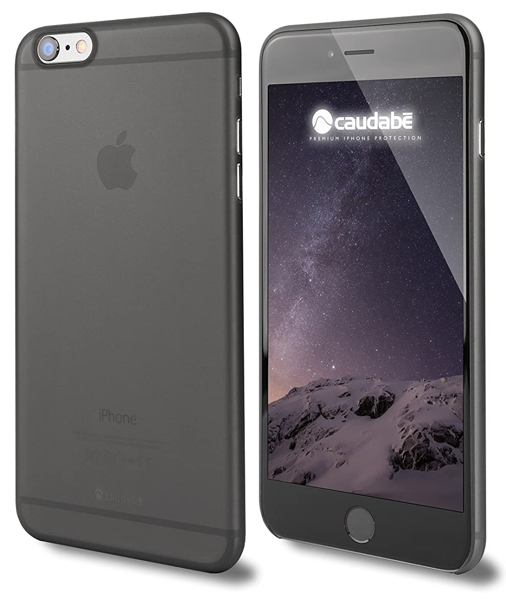 Caudabe The Veil iPhone 6 Plus and 6S Plus Premium Ultra Thin Case Wisp Black Eco Friendly Retail Packaging