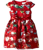 Us Angels - Cap Sleeve Floral Party Dress (Toddler/Little Kids)