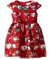 Us Angels - Cap Sleeve Floral Party Dress (Toddler/Little Kids)