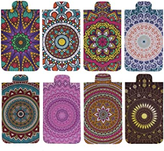 Heartzy Set of 8 Cute Chakra Mandala Magnetic Bookmark Combo | Gift for Booklovers
