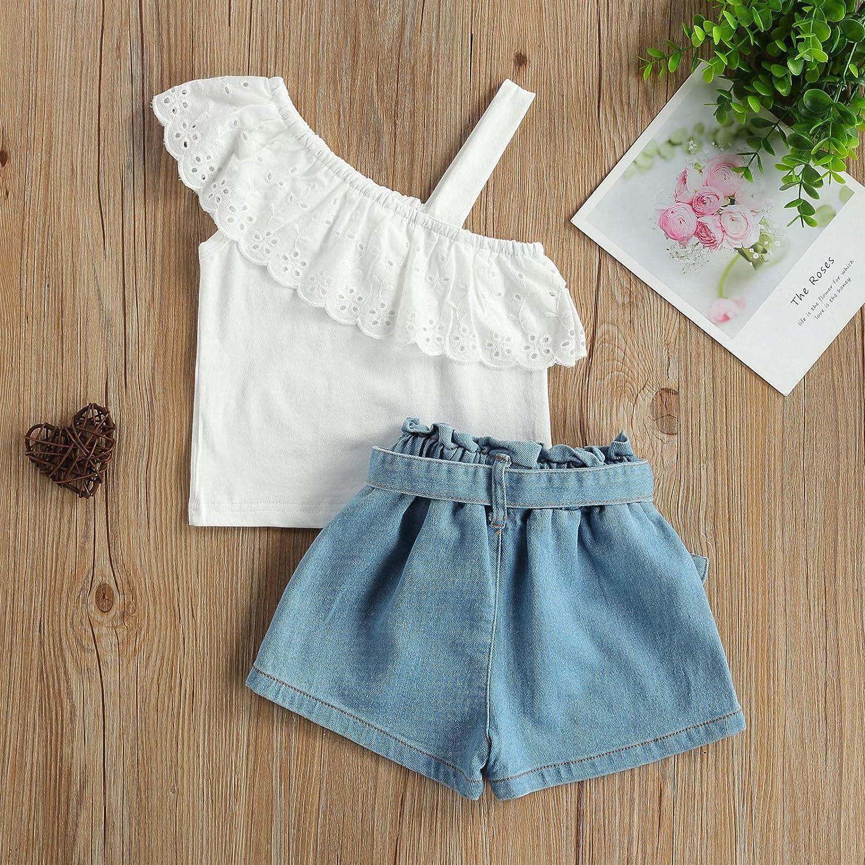Toddler Kids Baby Girl Summer Short Sets Shirts Top Short Jeans Pants Fashion Clothes