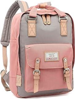 CALIYO Rucksack Damen groß modern Schulrucksack Mädchen Teenager Tagesrucksack Verschiedene Tragevarianten Rucksack für Uni viele Fächer mit Laptop-Fach Backpack wasserdicht