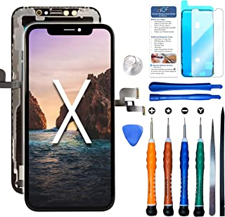 Compatible with iPhone X Hard OLED Replacement Screen 5.8 Inch (Model A1865 A1901 A1902) Touch Screen Display digitizer Repair kit Assembly w/Complete Repair Tools
