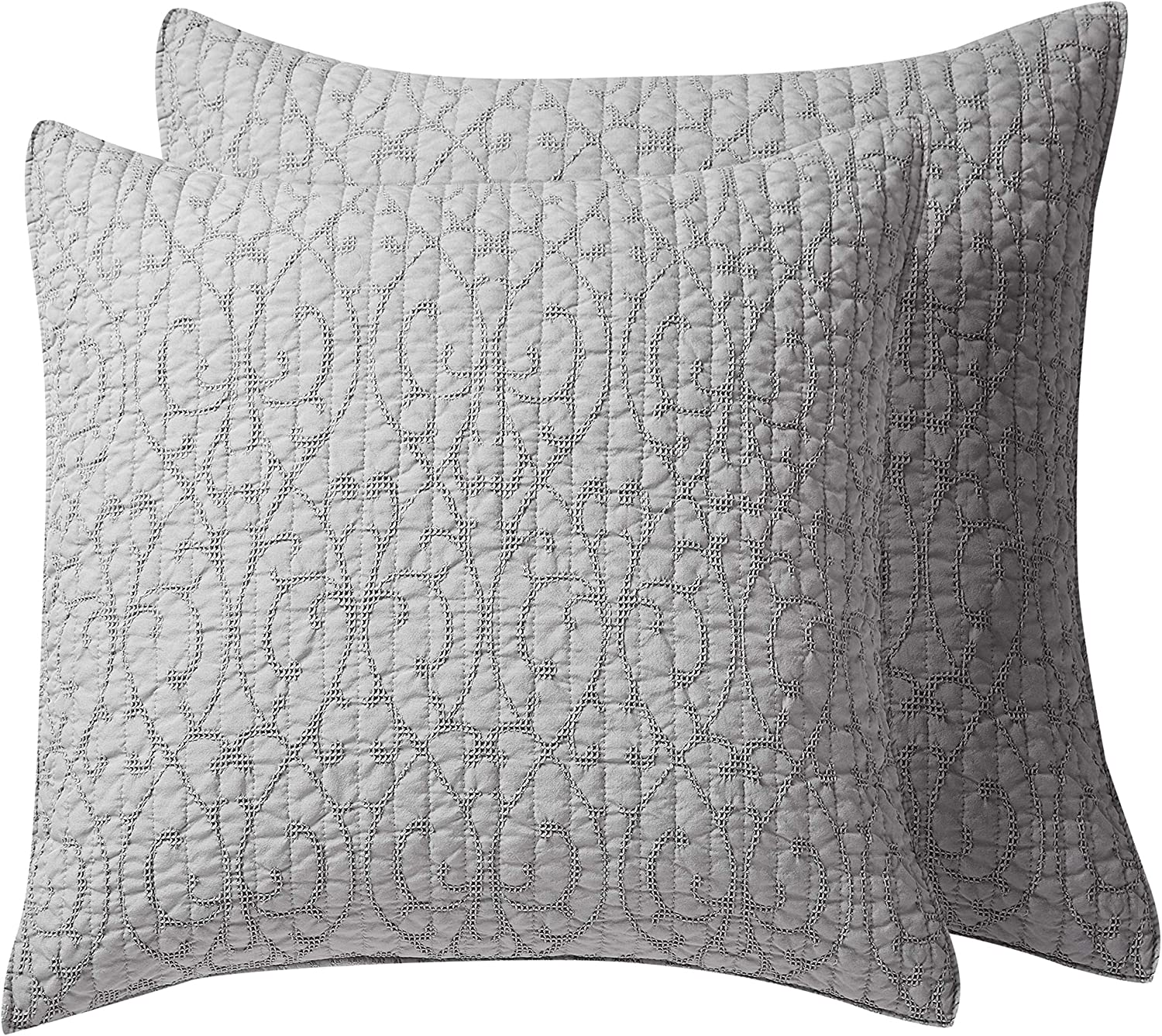 homthreads - Beckett Two Euro Microfiber Pillow Luxury goods Shams At the price of surprise Jacquard