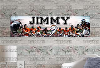 Customized Name Painting Denver Broncos Poster with Your Name On It Personalized Banner