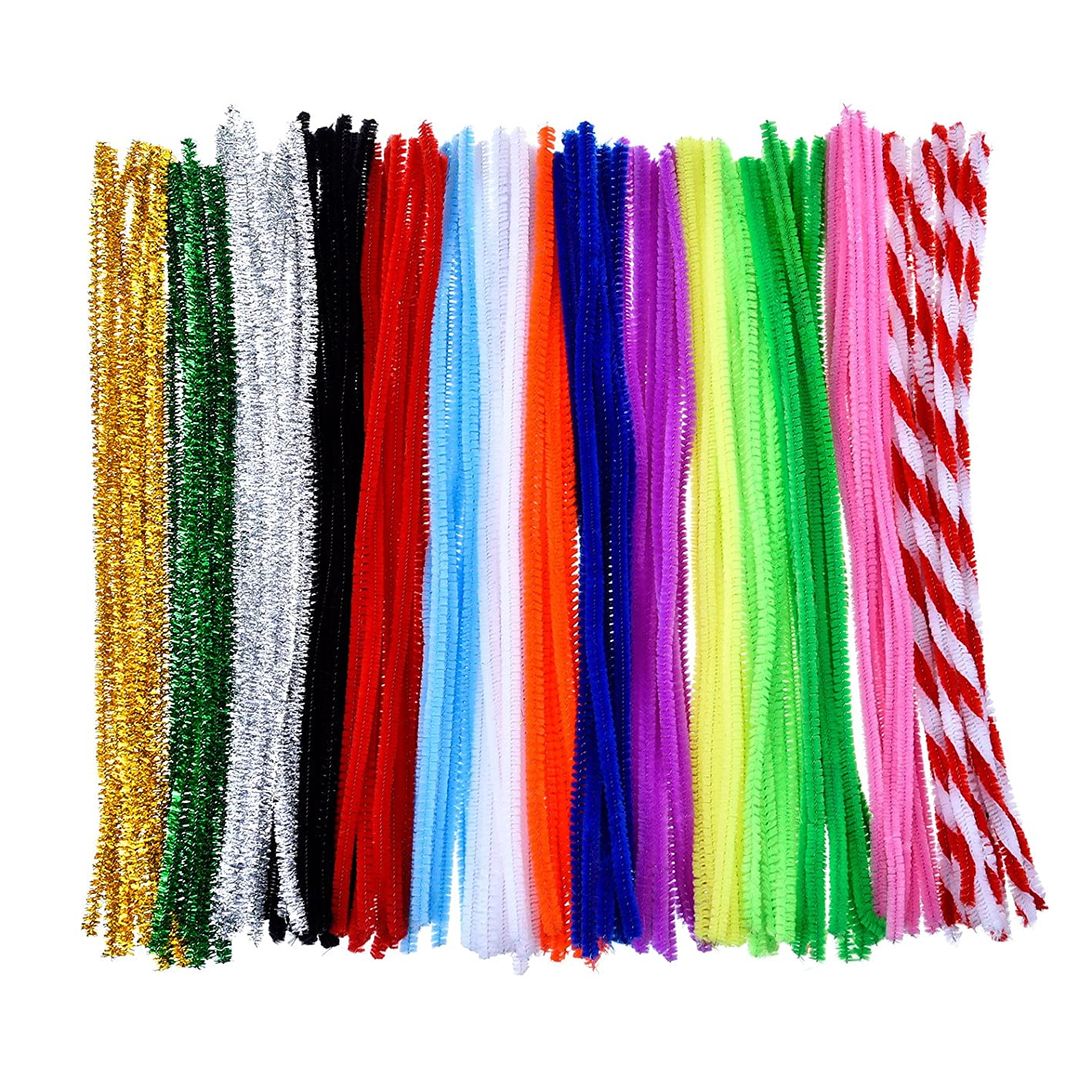 Outus 150 Pieces Pipe Cleaners Chenille Stem Art Craft Pipe Cleaners, 6 by 300 mm, 15 Colors jjraplzvisy426