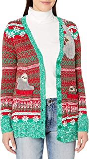 Juniors Jolly Santa Tunic Christmas Sweater