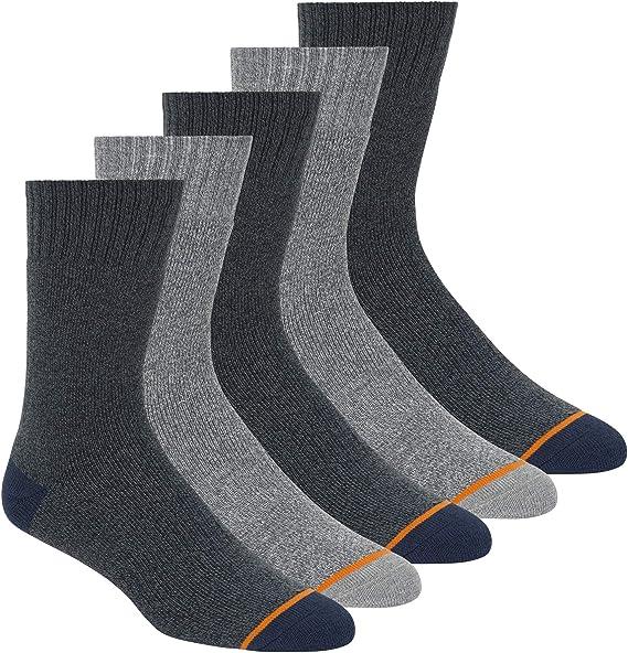 WEATHERPROOF Mens Five Pack Thermal Crew Socks Multi 360 FULL cushion UK 7-11