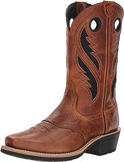 حذاء برقبة غربي Ariat Heritage Roughstock VentTek - أحذية رجالية جلدية الريف