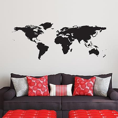 ATLAS WALL ART WORLD MAP WALL STICKER STUDY ART DECAL LOUNGE LIVING ROOM
