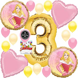 Princess Aurora Party Supplies Balloon Decoration Bundle for 3rd Birthday