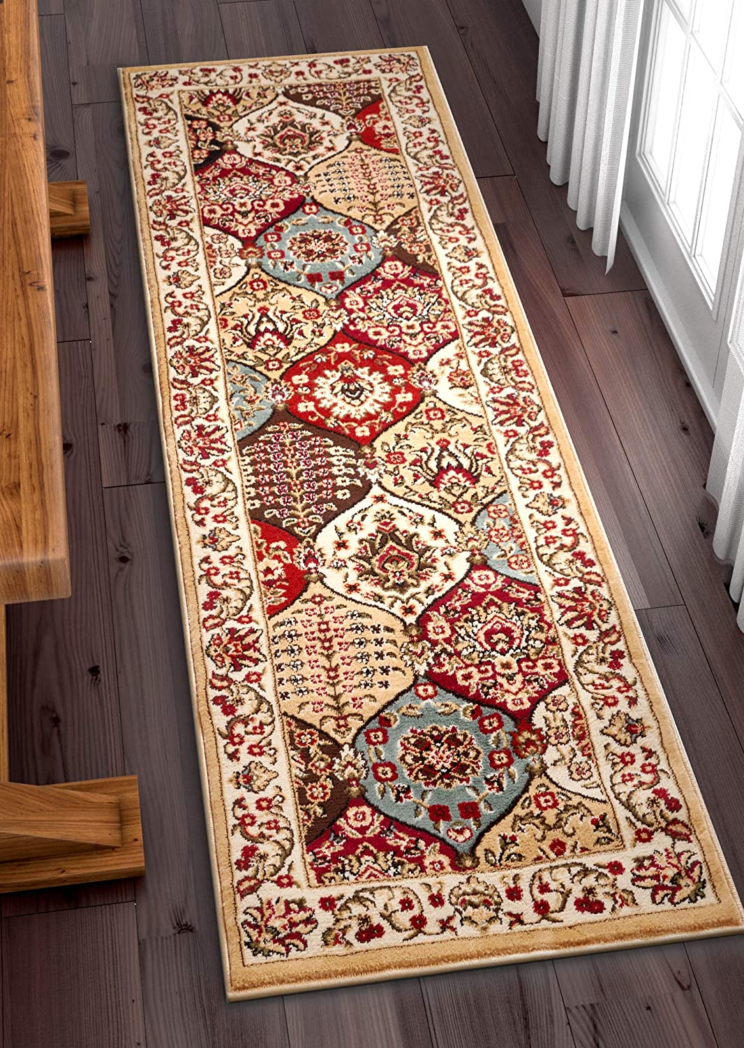 Well Woven Bargain Award Barclay Wentworth Panel Traditional Rug Ivory Area 2'