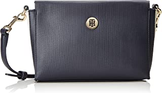 Tommy Hilfiger Effortless Saffiano Xover, Women'S Cross-Body Bag, Blue (Corporate), 6X18X25 Cm (B X H T)