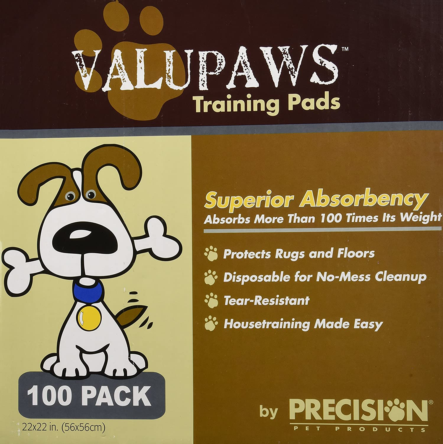 Max 50% OFF Precision Pet Manufacturer OFFicial shop 100-Pack ValuPaws Training 22 by Pads 22-Inch